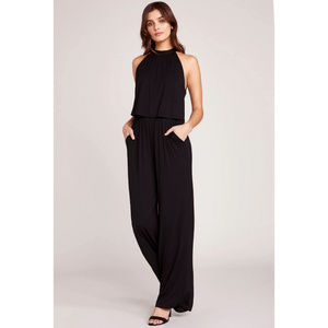 BB Dakota One On One Black Knit Jumpsuit NWT Small